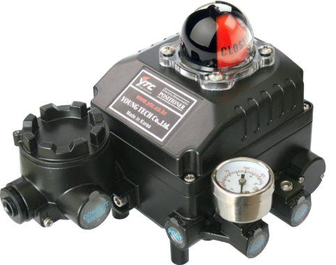 J+J Actuadores Pneumáticos Posicionadores YT-1000R lateral