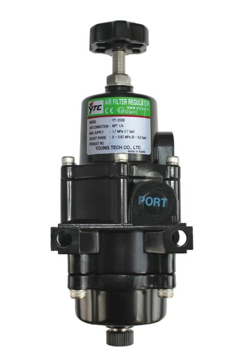 J+J Accessories for Pneumatic Actuators YT-200 Air Regulator Filter front