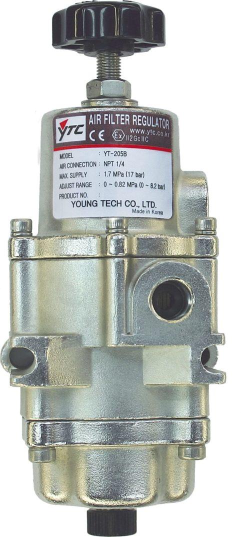 J+J Accessoires pour Actionneurs Pneumatiques Filtre Régulateur d'Air YT-205 avant