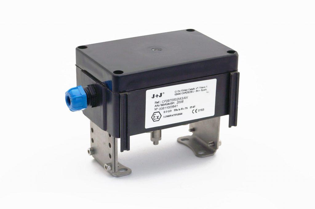 """J+J Pneumatic Actuators Pneumatic Actuators Signal Boxes Limit Switches Series CP """"Blind"""" Front End"""