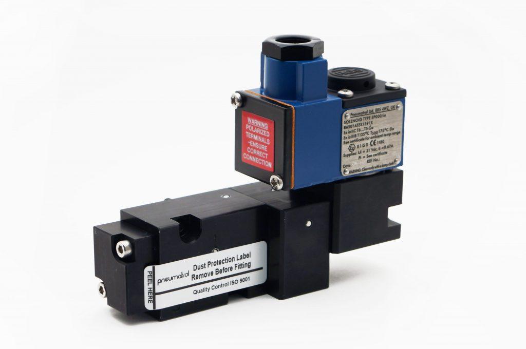 J+J Actuadores Pneumáticos Electroválvulas EexdIICT6 frontal